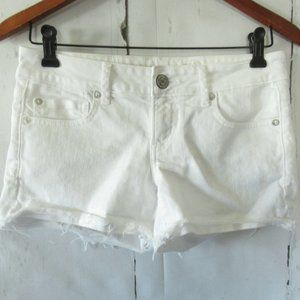 American Eagle Super Low Shortie Shorts Denim Jean